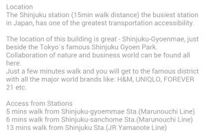 Airbnb Shinjuku accommodation