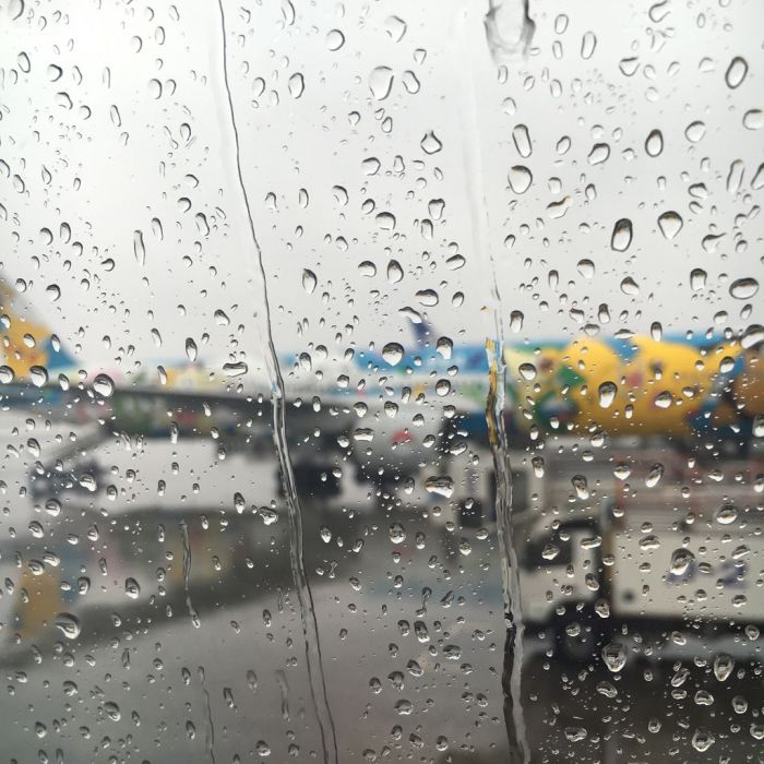 Rain on arrival at Chitose