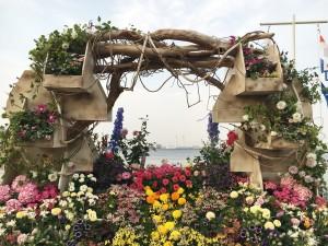 Flower installation in Yamashita-koen