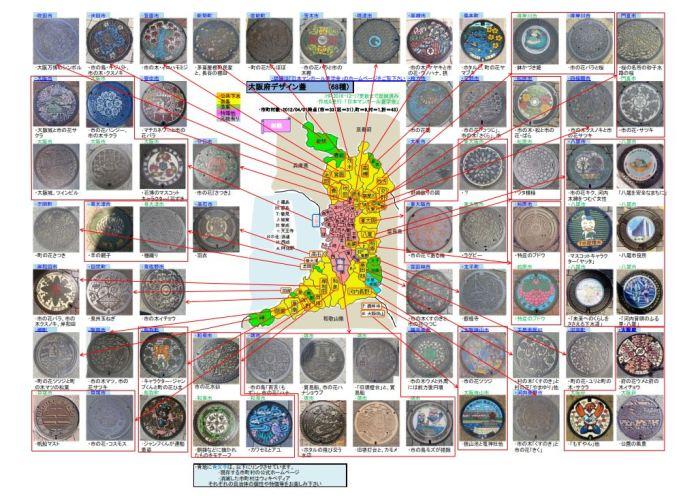Manhole Covers Osaka-fu